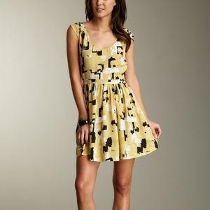 Joie Allegra Cubist Silk Dress